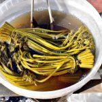 塩漬けして発酵させた山菜の酸っぱい食べ物