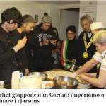 フォルニ・アヴォルトリの市長さん、地元メディア、チャルソンス大使、アルソーレのシェフと共にチャルソンスについてイタリアのメディアに掲載していただきました